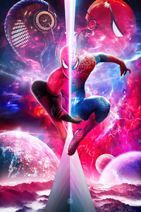 480x800 Spiderverse Spiderman 4k