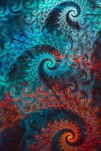 1125x2436 Spiral Abstract Patterns