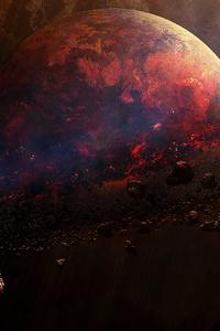1440x2960 Split Bullet Planet 4k