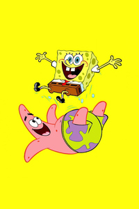 640x1136 Spongebob And Patrick Minimal 5k