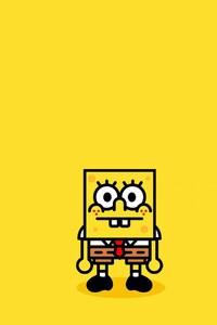 640x1136 Spongebob Minimalism