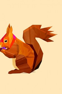 240x320 Squirrel Vector