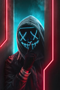 1080x2280 Ssh Mask Glowing Boy 4k