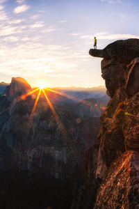 320x480 Standing At Glacier Point Sunrise In Yosemite National Park By
