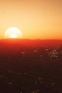 Star Citizen Sunset In Hurston Planet