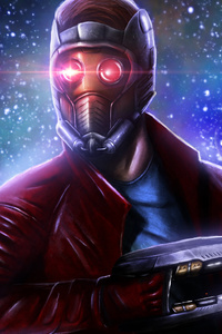 1125x2436 Star Lord 5k Art