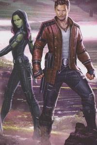Star Lord And Gamora Artwork