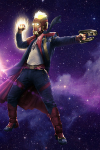 Star Lord Captain Marvel Mashup