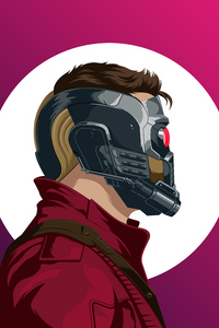 240x400 Star Lord Illustration 4k