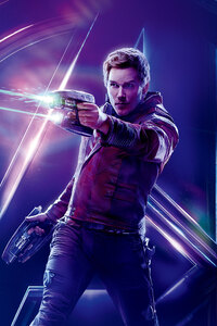 Star Lord In Avengers Infinity War 8k Poster
