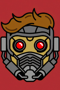 2160x3840 Star Lord Mask Minimal