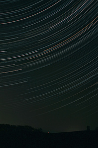 1242x2688 Star Trails 5k