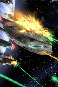 Star Trek Akira Class Battle 4k