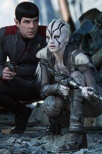 Star Trek Beyond Zachary Quinto And Sofia Boutella