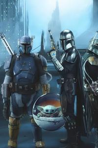 480x854 Star War Mandalorians Are Stronger Together 5k