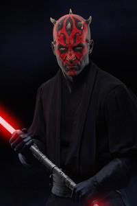 1242x2688 Star Wars Battlefront Darth Maul