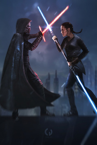 1080x2160 Star Wars IX Duel Of Fates 4k