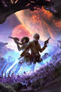 Star Wars Luke Skywalker R2 D2 Scifi Artwork