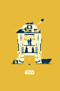 320x480 Star Wars Minimalism Art 5k