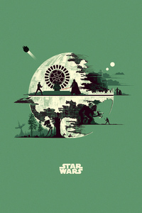 320x480 Star Wars Minimalism Artwork 5k