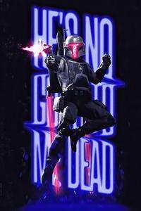 1080x2160 Star Wars Neon Boba Fett