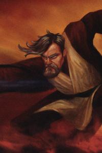 Star Wars Obi Wan Artwork 4k
