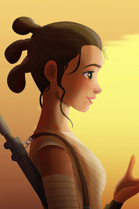 720x1280 Star Wars Rey And Bb8 4k