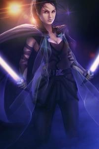 1080x2160 Star Wars Rey Cosplay 4k