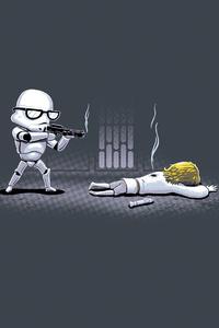 Star Wars Stormtrooper Minimal 4k
