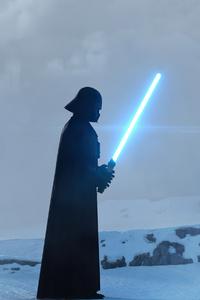 1242x2688 Star Wars The Clone Wars Darth Vader 5k
