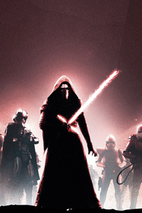 360x640 Star Wars The Force Awakens Poster Art