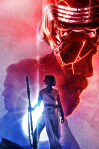 1080x2280 Star Wars The Last Jedi Art 5k