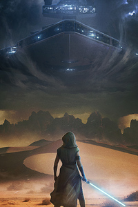1080x2280 Star Wars The Rise Of Skywalker Arts