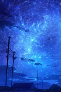 480x854 Starry Blue Sky Night 8k