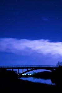 480x854 Starry Night Sky Cloud Front 5k