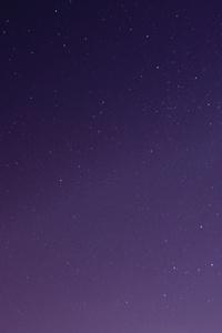 Starry Purple Sky 4k