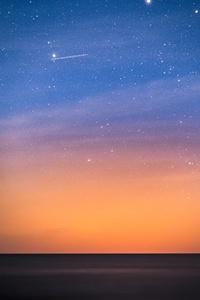 1440x2560 Stars Above The Dark Baltic Sea 5k