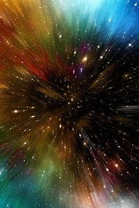 540x960 Stars Motion Colorful Abstract 4k