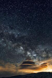 240x320 Stars Nebula