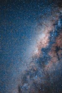 640x1136 Stars Ocean Under Blue Sky 5k