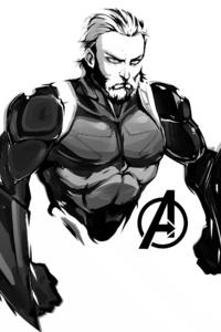 2160x3840 Steve Rogers In Avengers Infinity War