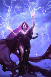 320x568 Storm Gods Oracle Magic The Gathering Card 4k