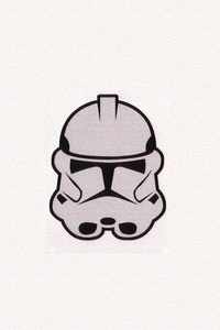 Storm Trooper Minimalism Mask 4k