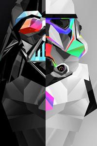 Stormtrooper And Darth Vader 4k Artwork