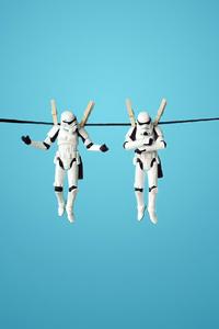 320x568 Stormtrooper Funny 4k