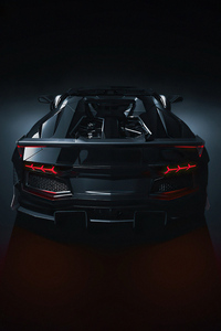 1125x2436 Strada Verso Lamborghini Aventador S Roadster Cgi 4k