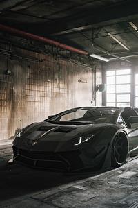 1125x2436 Strada Verso Lamborghini Aventador S Roadster Cgi 5k