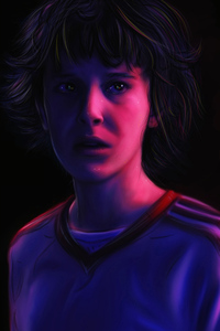 480x854 Stranger Things Eleven 4k Artwork New