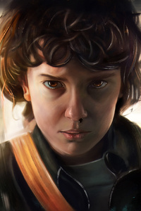 240x400 Stranger Things Eleven HD Artwork