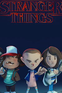 1125x2436 Stranger Things Fan Art
